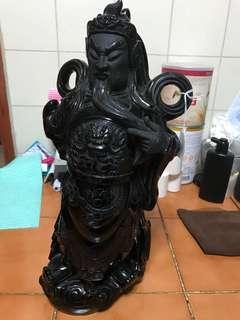 Black hardstone Guang Gong