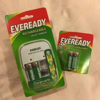 Eveready Rechargeable Charger / Batteries