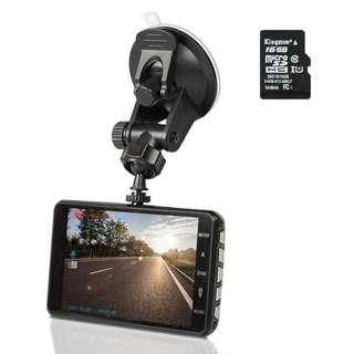 584.1296P Full HD Night Vision Dash Cam, Innoo Tech Car Camera, 170°Ultra Wide Angle, G-sensor, Motion Detection, LDWS & FCWS, Parking Mode, 16G SD Card Included