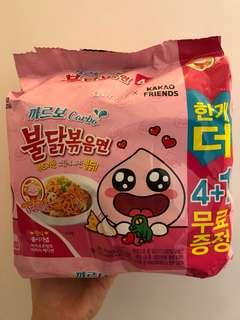 Samyang X Kakao friends 辣麵 5包 平均18蚊包