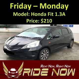 Honda Fit 1.3A Weekend Rental