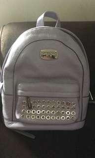Brand New Michael Kors Mini Leather Purple Backpack