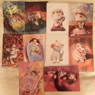 Kitten / Animal Postcards x10