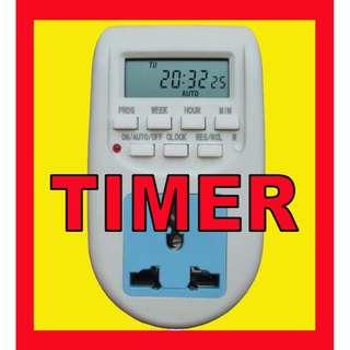 💥 $10.50 💥 DIGITAL TIMER WALL PLUG Programmable Electronic Mechanical 24 HOUR AC SWITCH
