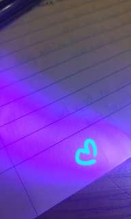 藍光隐形筆