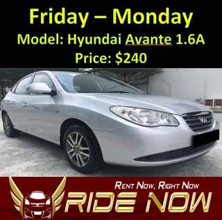 Hyundai Avante 1.6A Weekend Rental