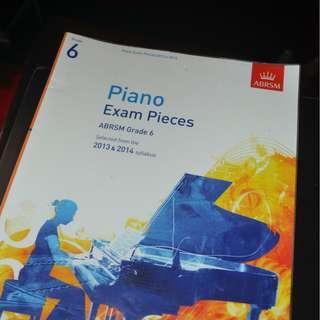 Piano Exam Sheets