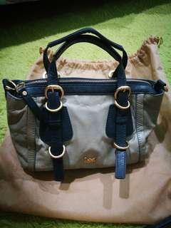 Genuine Leather Hand Bag **Discolored**