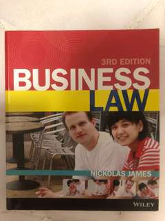 Business Law Textbook 3rd Edition + Case Studies + Notes
