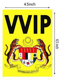 VVIP jata negara windscreen sticker
