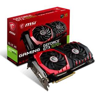 MSI GeForce GTX 1070 TI GAMING 8GB GTX1070 GTX1070TI
