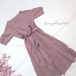 🚚 韓版紫色洋裝 長洋裝(原價580)