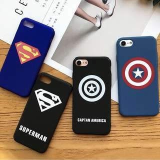 Superman and Captain America Hard Case