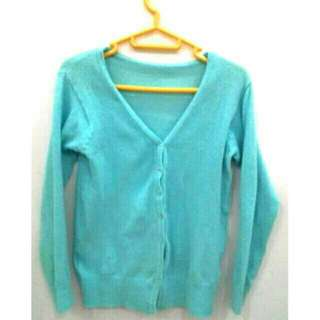 CARDIGAN light blue rajut
