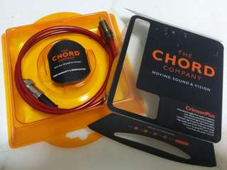 CHORD Co. CRIMSON PLUS 2x VEE RCA to DIN Audio Interconnect Cable