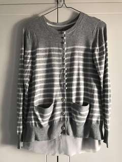 Sacai cardigan top Sz 1