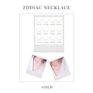 Zodiac Constellation Necklace Gold