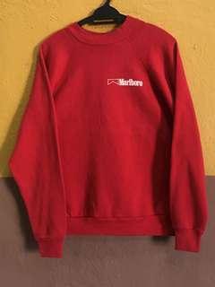 Vintage Sweatshirt Marlboro Red