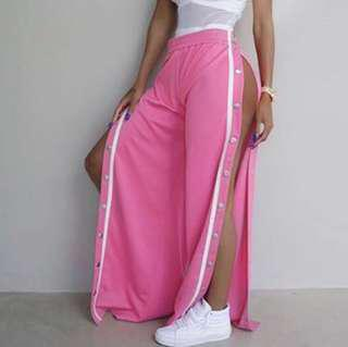 Pink Tear Away Track Pants