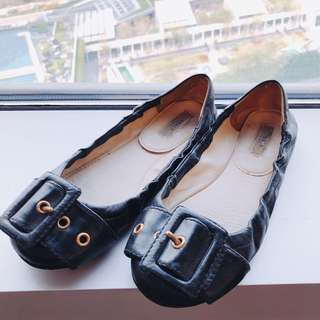 Authentic Prada black Ballet Flats