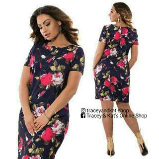Floral Plus Size Dress