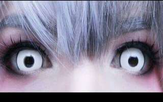 White contact lenses for cosplay