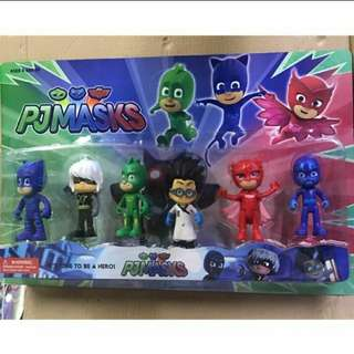 BRANDNEW PJ MASKS ALL 6 CHARACTERS  Toy Collectibles