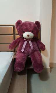 HUGE Purple Teddy Bear
