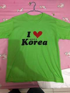 KAOS NYAMAN / KAOS KOREA / KAOS HIJAU / I LOVE KOREA