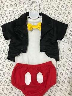 Original Disney Mickey Mouse Costume 6months