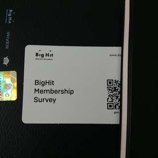 BTS MEMBERSHIP SURVEY EVENT CARD