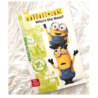 Minions Who's the Boss? Children's Book Ready to Read Level 2