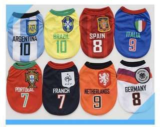 🚚 World Cup Jersey for Pets/Dogs