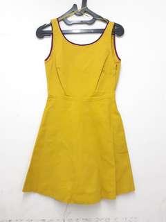 Zara yellow dress