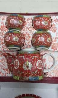 結婚擺酒敬茶茶具