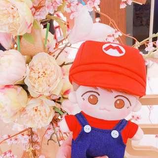 BTS EXO WANNA ONE mario 套裝20cm娃衣 玩偶衣服 公仔