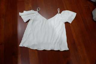 Pleated Shoulder Top