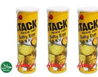 Salted egg potato chips (3 stalk)