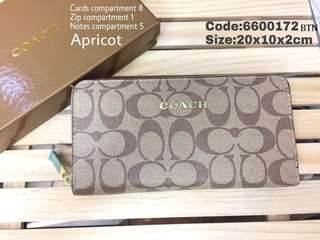 Coach Single Zip Purse with box