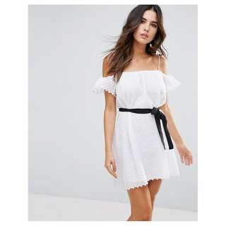 Asos Little White Lies Veronique Cold Shoulder Dress