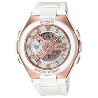 MSG-400G-7ADR MSG-400G-7A MSG-400G-7 CASIO BABY-G G-MS WHITE ROSE GOLD WATCH