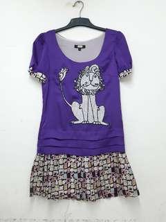 Purple dress anna sui