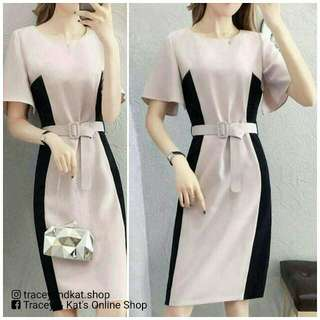 Casual Dress With Belt