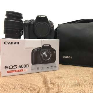 Canon 600D in good condition, comes with 50mm F/1.8 lens