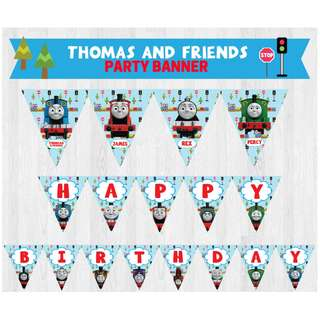 🚚 Thomas and Friends/ Thomas the Tank Engine Birthday Party Banner