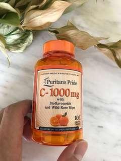 🚚 Puritan's Pride Vitamin C-1000 mg with Bioflavonoids & Rose Hips
