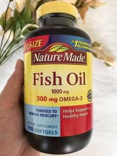 🚚 Nature Made Fish Oil 1000 mg