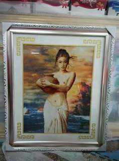 Hand made sewed artistic painting
