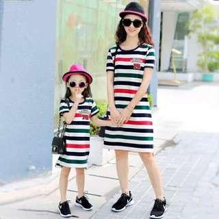 MOTHER & DAUGHTER STRIPE DRESS JLH