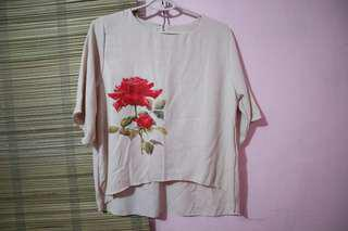 Batwing top (peach)